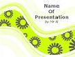 Green Serpentine Background Powerpoint Template