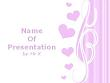 Pink Love Hearts Powerpoint Template
