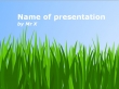 Peaceful Green Field Powerpoint Template