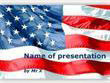 Waving American Flag Powerpoint Template