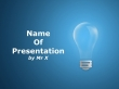 A light bulb on a blue background Powerpoint Template