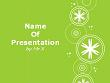 White Snowflakes over Green Background Powerpoint Template